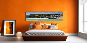 Porthminster Beach Panorama - Print Aluminium Backing With Acrylic Glazing on Wall