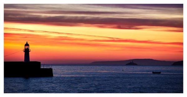Dawn Harbour St Ives Lighthouse - Cornwall Print