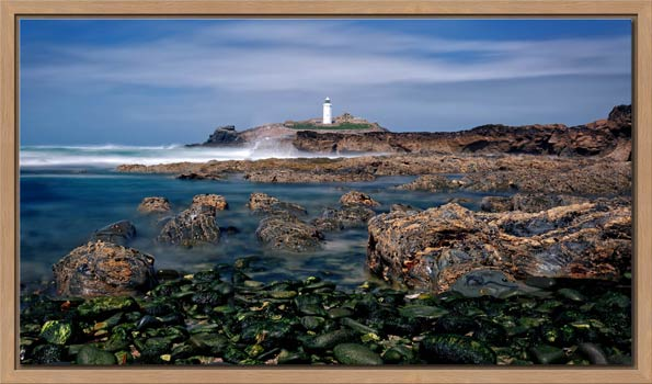 Godrevy Point Lighthouse and Rocks - Modern Print