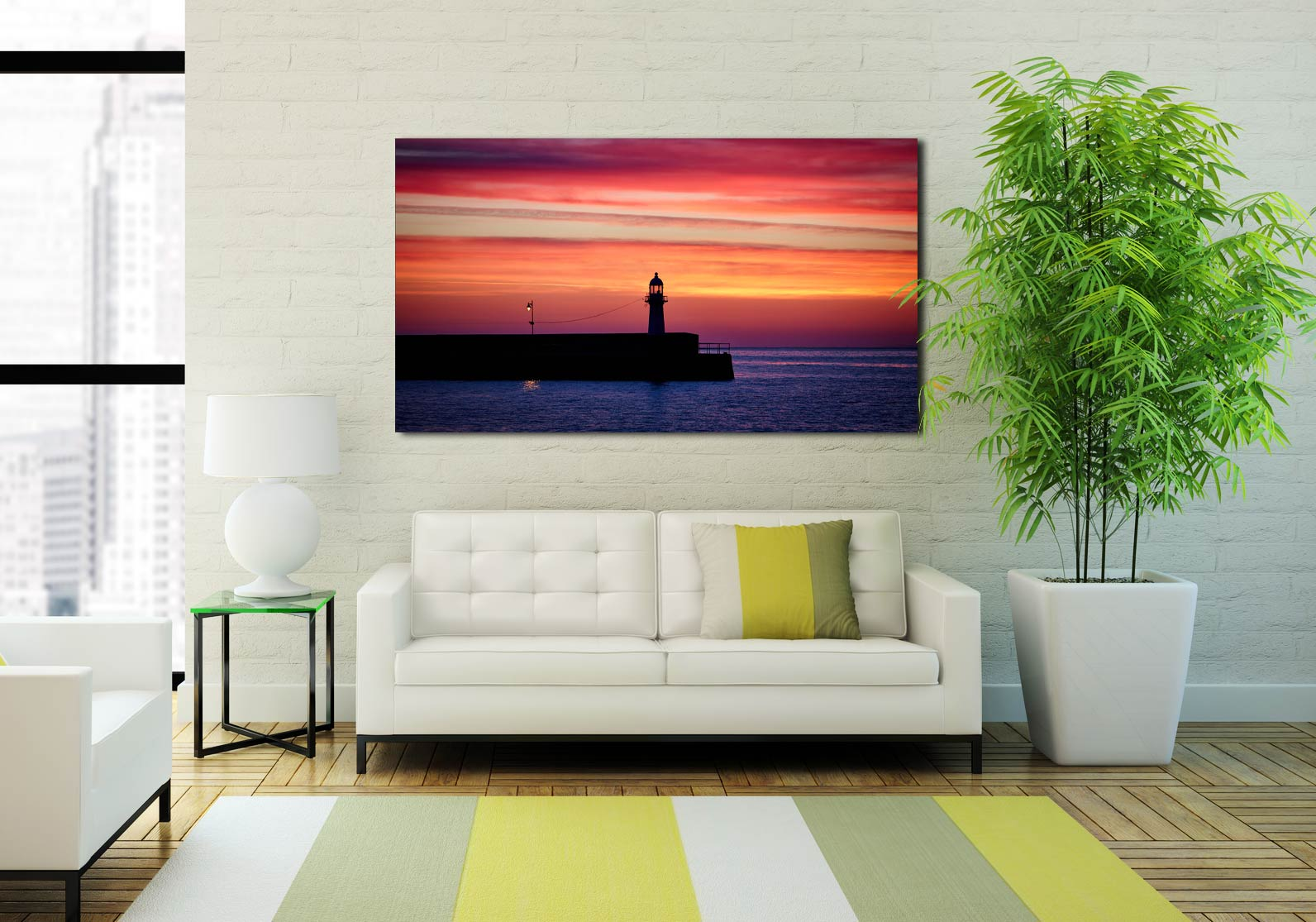 Lighthouse and the Lamp - Print Aluminium Backing With Acrylic Glazing on Wall