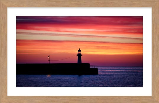 Lighthouse and the Lamp - Framed Print with Mount