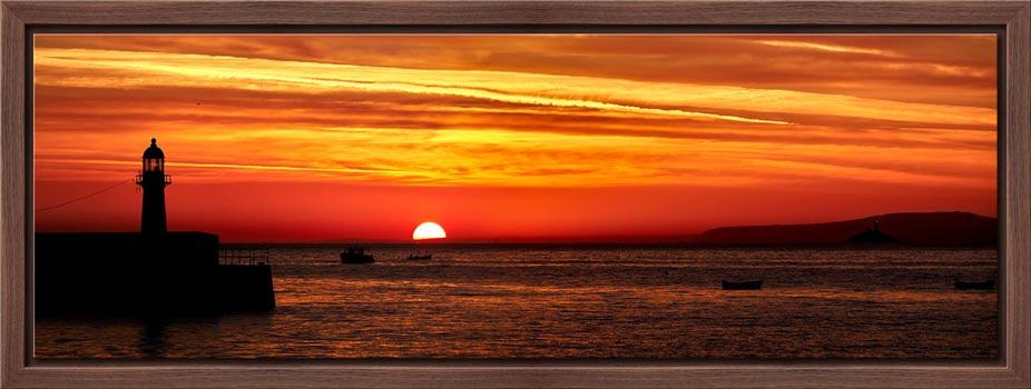 Dawn Breaking Over St Ives Bay - Modern Print