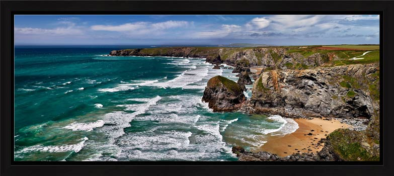 A beautiful summers day at Bedruthan Steps on the North coast of Cornwall