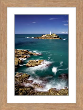 Green Ocean at Godrevy Point - Framed Print with Mount