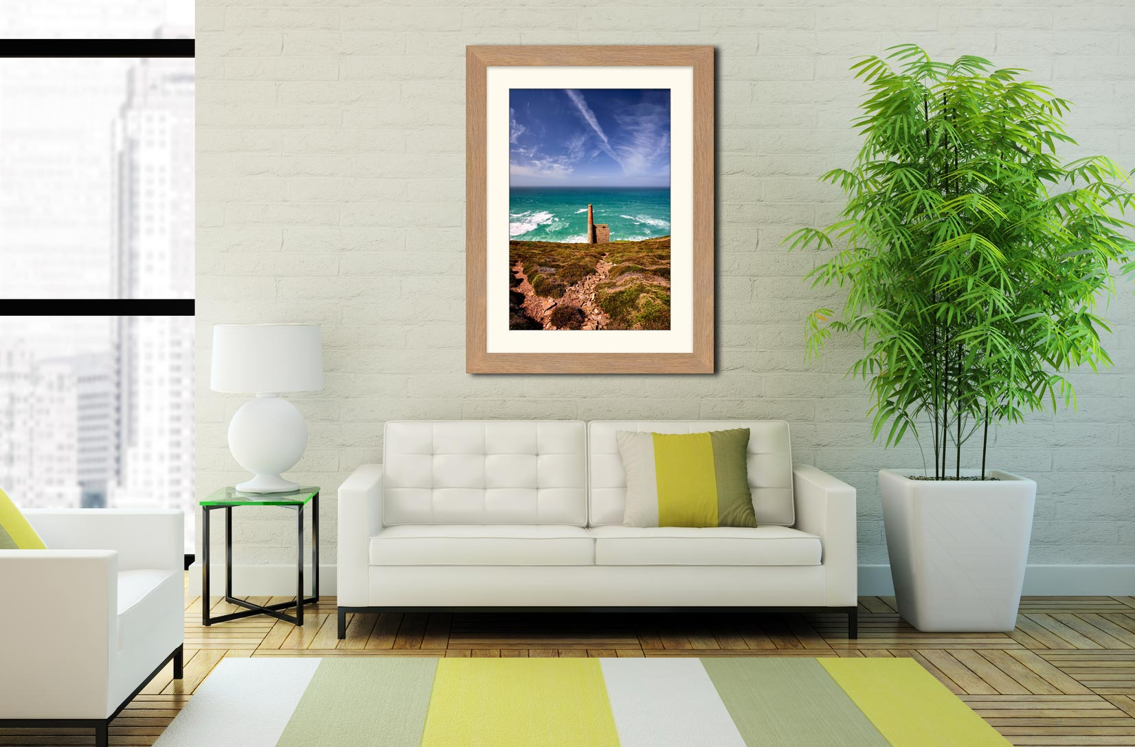 St Agnes Mine Cornwall - Framed Print with Mount on Wall