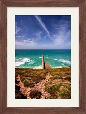 St Agnes Mine Cornwall - Framed Print with Mount
