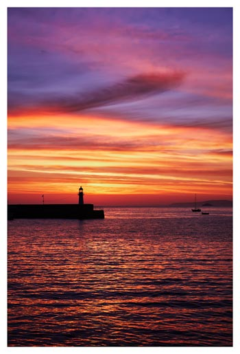 Dawn St Ives Lighthouse - Cornwall Print