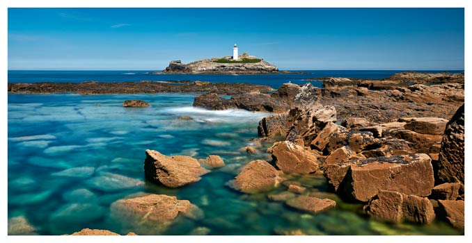 Calm Waters of Godrevy Point - Cornwall Print