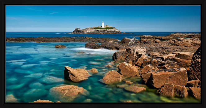 Calm Waters of Godrevy Point - Modern Print