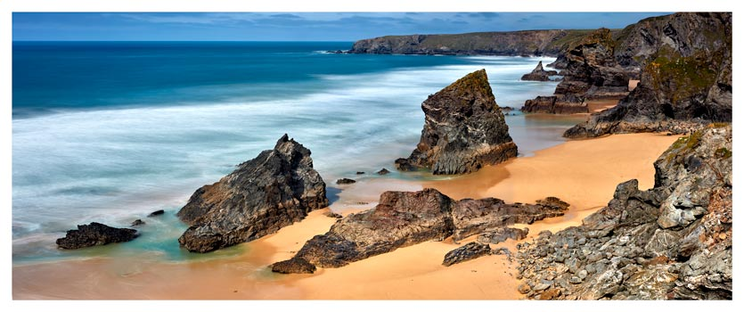 Postcard From Bedruthan Steps - Cornwall Print