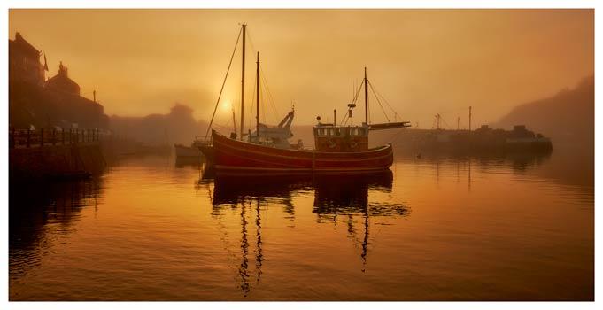 Misty Mevagissy Harbour - Cornwall Print