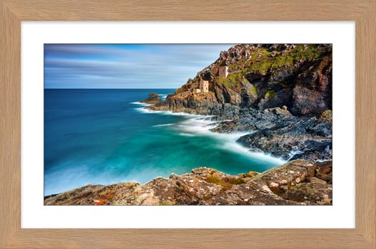 Green Ocean at Botallack - Framed Print with Mount