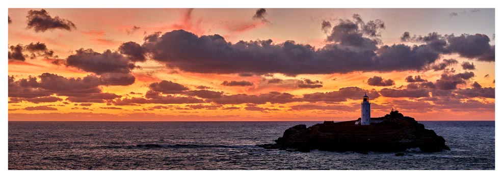 Godrevy Autumn Sunset - Prints of Cornwall