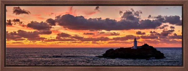 Godrevy Autumn Sunset - Modern Print