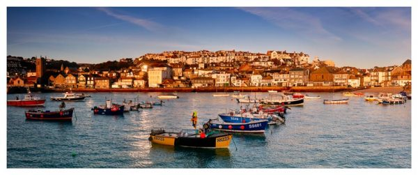 St Ives Harbour Golden Light - Cornwall Print