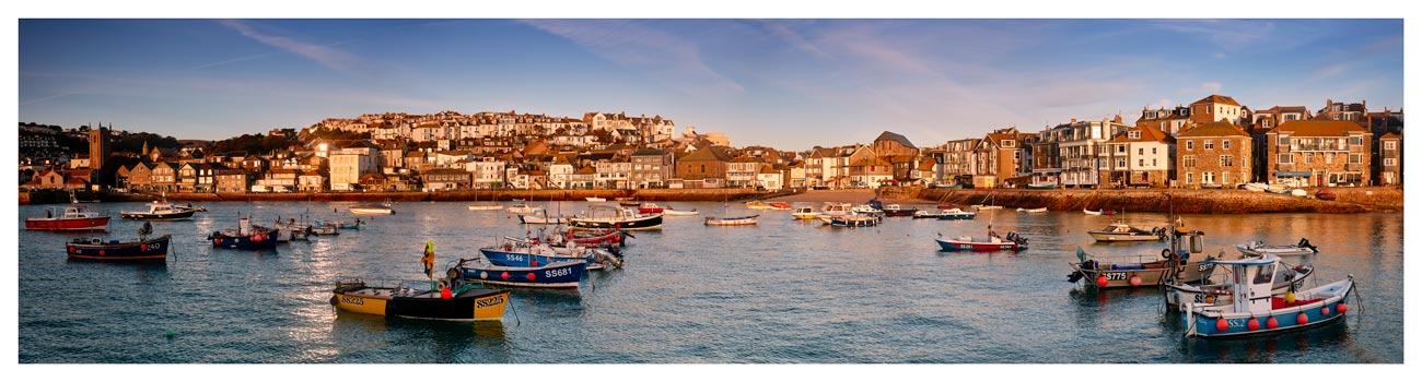 St Ives Harbour Morning Light - Cornwall Print