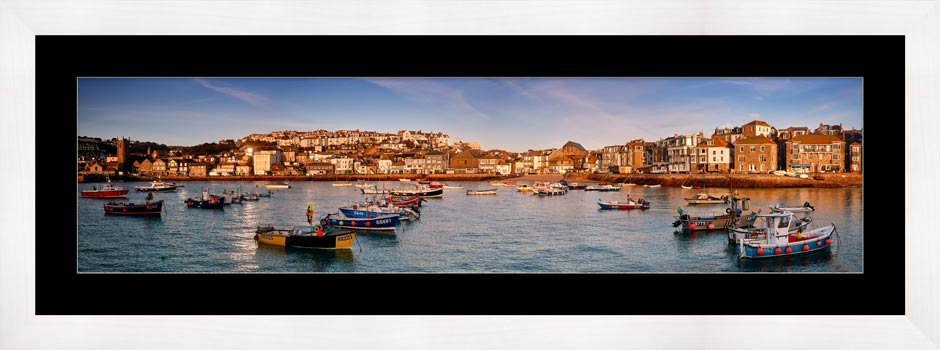 St Ives Harbour Morning Light - Framed Print with Mount