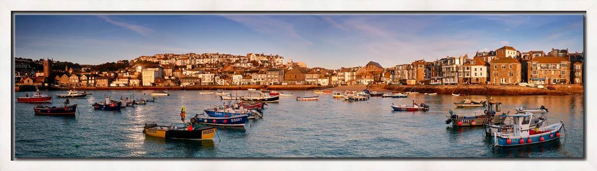 St Ives Harbour Morning Light - Modern Print