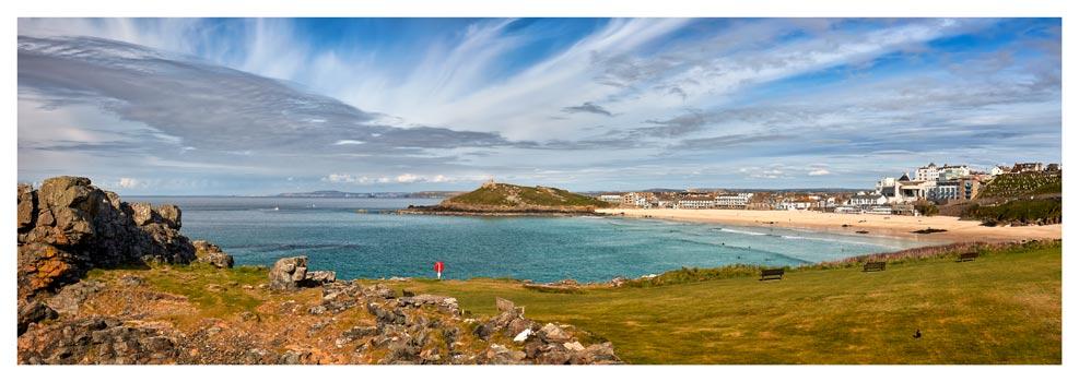 St Ives Bay Panorama - Prints of Cornwall