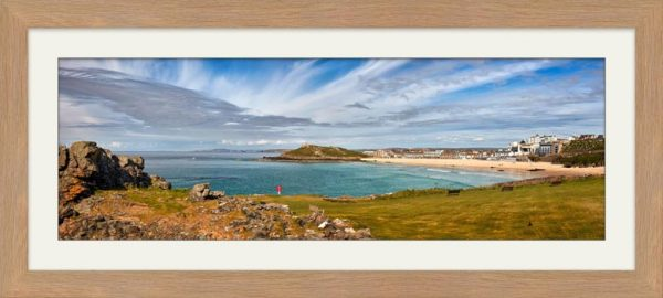 St Ives Bay Panorama - Framed Print with Mount