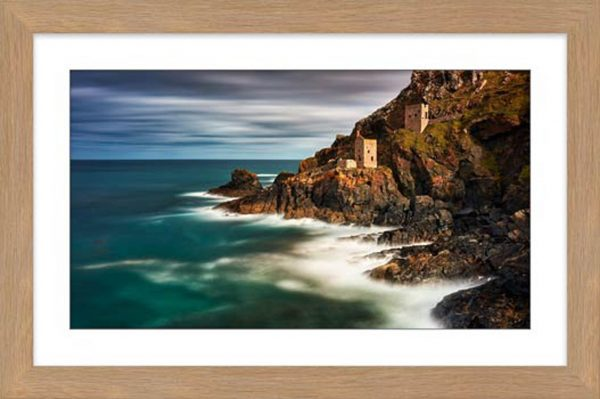 Botallack Mines in the Autumn Sunshine - Framed Print with Mount