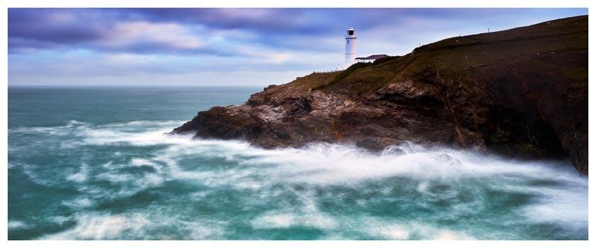 Stinking Cove and Trevose Head Lighthouse - Cornwall Print