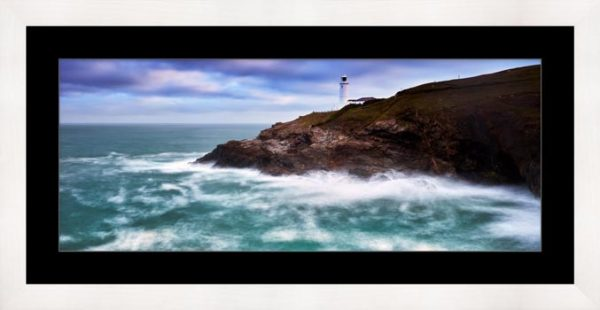 Stinking Cove and Trevose Head Lighthouse - Framed Print with Mount