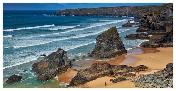 Bedruthan Steps Beach Rocks - Cornwall Print