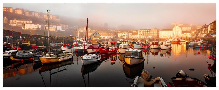 Mevagissy Golden Morning - Cornwall Print