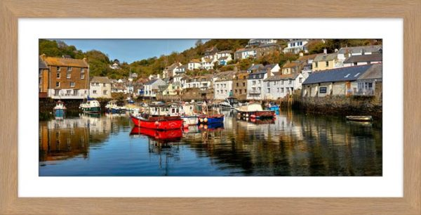 Polperro Harbour - Framed Print with Mount