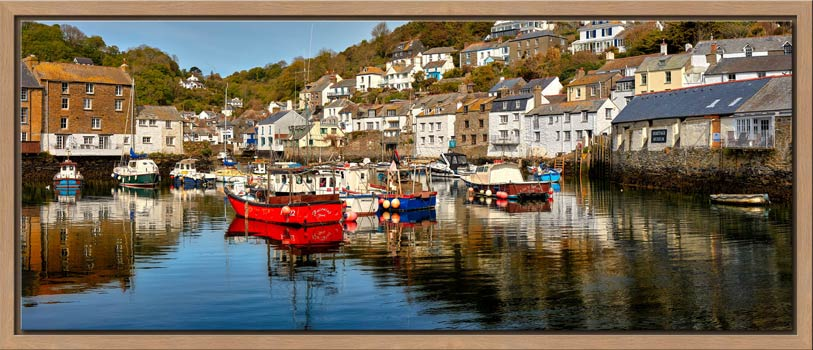 A calm morning at Polperro Harbour on the South coast of Cornwall
