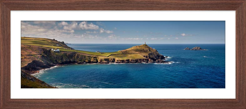 Cape Cornwall - Framed Print with Mount