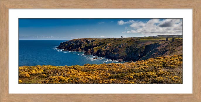 Botallack Mines Yellow Gorse - Framed Print with Mount