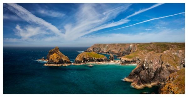 Green Ocean Kynance Cove - Cornwall Print