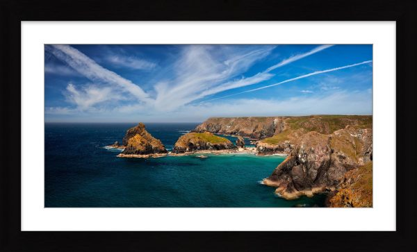 Green Ocean Kynance Cove - Framed Print with Mount