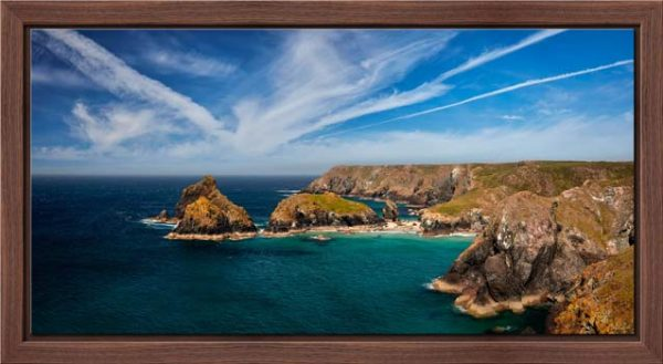 Green Ocean Kynance Cove - Modern Print