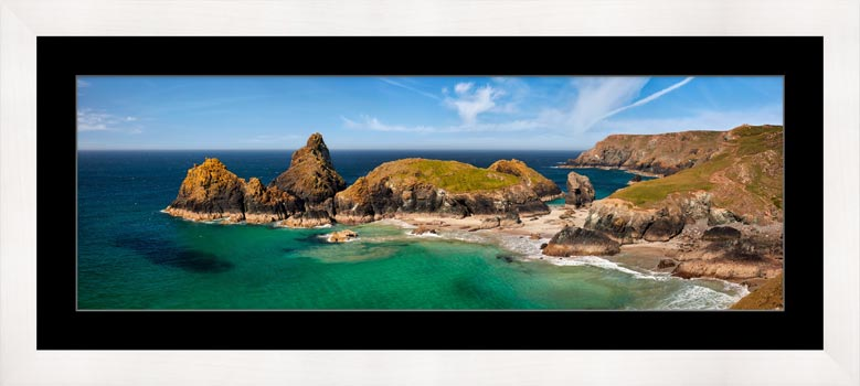 Asparagus Island at Kynance Cove - Framed Print with Mount