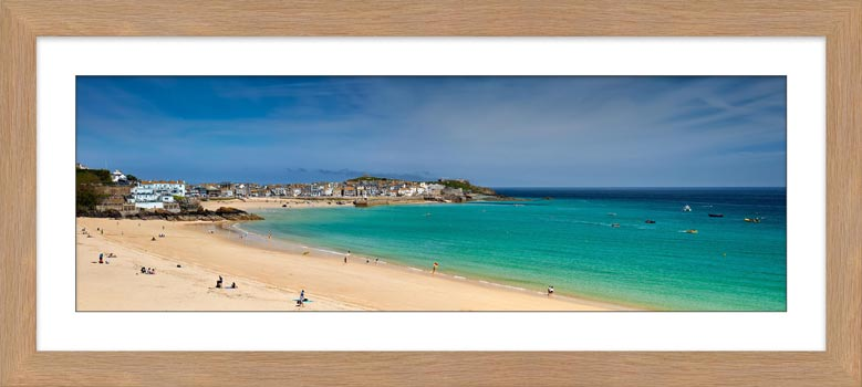 St Ives Bay Porthminster Beach - Framed Print with Mount