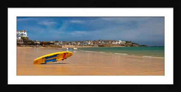Lifeguard Porthminster Beach - Framed Print with Mount