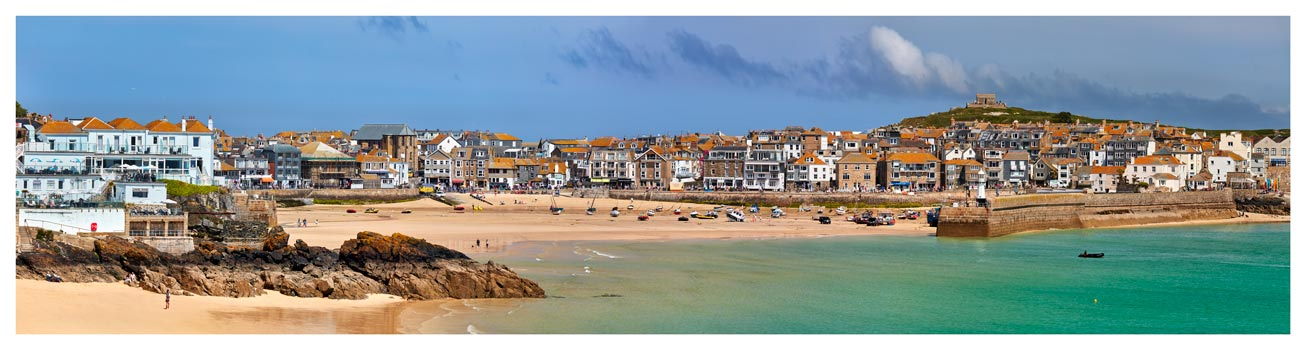 St Ives Seafront - Cornwall Print