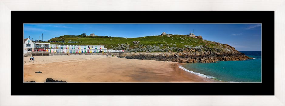 Porthgwidden Beach and The Island - Framed Print with Mount
