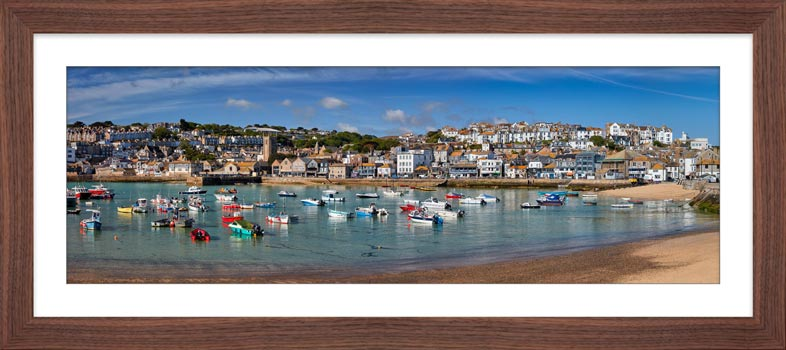St Ives Harbour Morning - Framed Print with Mount