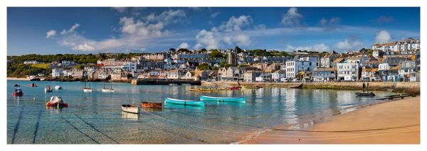 St Ives Harbour Silver Water - Prints of Cornwall