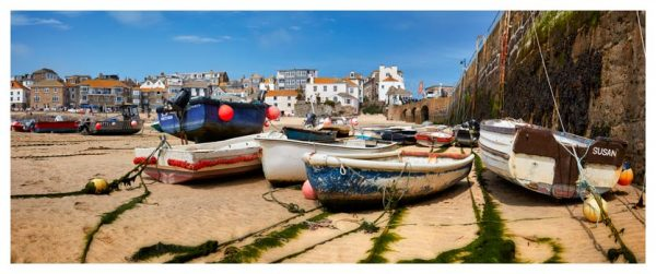 Boats on the Sand - Cornwall Print