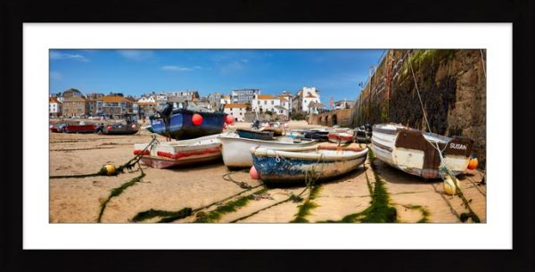 Boats on the Sand - Framed Print with Mount