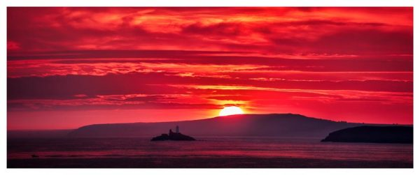 Red Sky in Morning - Cornwall Print