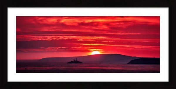 Red Sky in the Morning - Framed Print with Mount