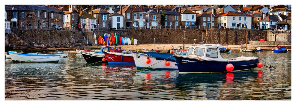 Mousehole Harbour Boats - Prints of Cornwall