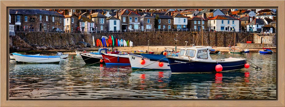 Mousehole Harbour Boats - Modern Print