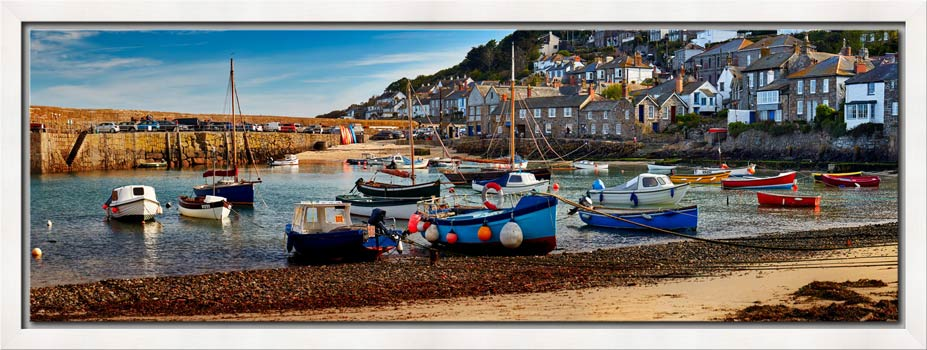 Mousehole Harbour Morning - Modern Print